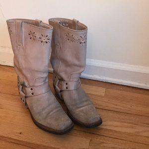 Frye embellished harness boots